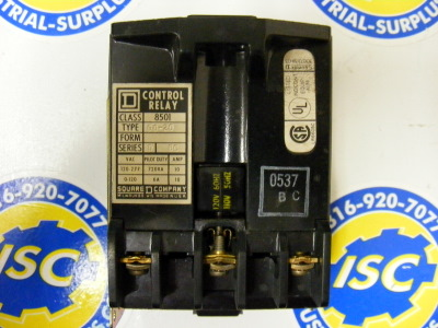 <b>Square D - </b>8501-GO-20 Control Relay